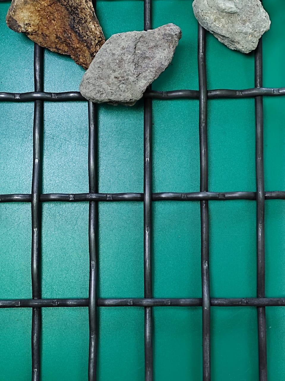 Сетка рифленая с прямоугольными ячейками